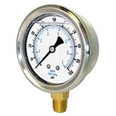 Liquid Filled Pressure Gauges with Brass Internals