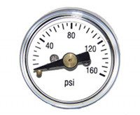 "1"" MINI BOURDON TUBE GAUGE AVAILABLE OPTIONS"