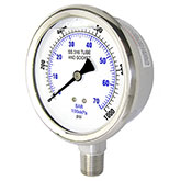 Liquid Filled Pressure Gauges with Stainless Internals